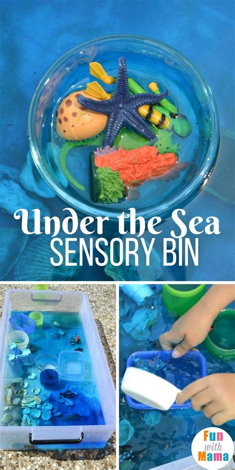 theme preschool sensory bin with 407 | Under the sea sensory bin pinterest