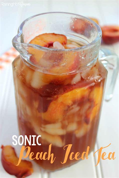 peach iced tea  sonic
