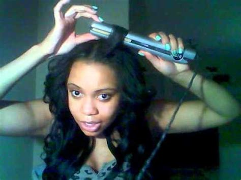 Tut On How To Feather Bangs With Flat Iron Youtube