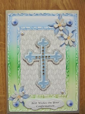 Christening Baptism Communion Confirmation Blue cross in