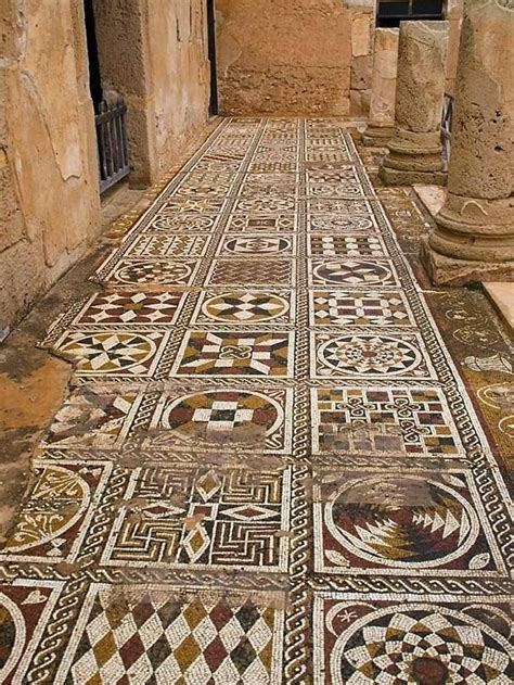 mosiac floor mosaic floors villa of silene leptis magna libya ntic mos ic pinterest mosaics