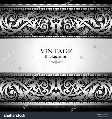 vintage silver background antique victorian ornament stock