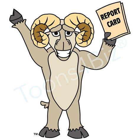 Ram Clipart Ram Mascot Clip Holding Report Card Clip