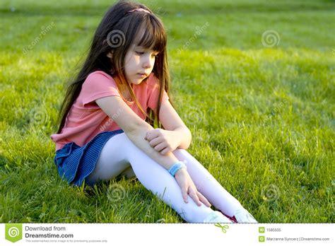 sad  girl stock image image  forlorn emotions