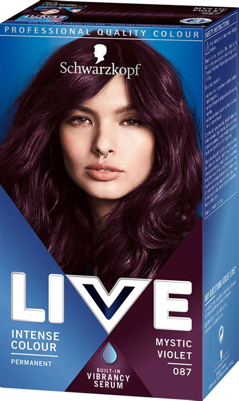 Shiny Brown Hair Dye by 087 Mystic Violet Hair Dye By Live