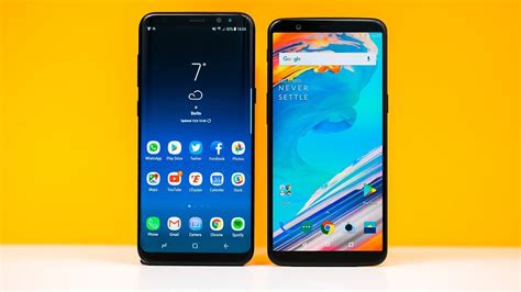 samsung galaxy s8 oneplus 5t dos universos en colisi 243 n androidpit