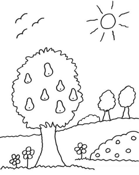 kostenlose malvorlage baeume birnenbaum zum ausmalen