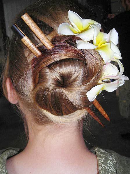 chopstick bun braid bun and ponytail hairstyles