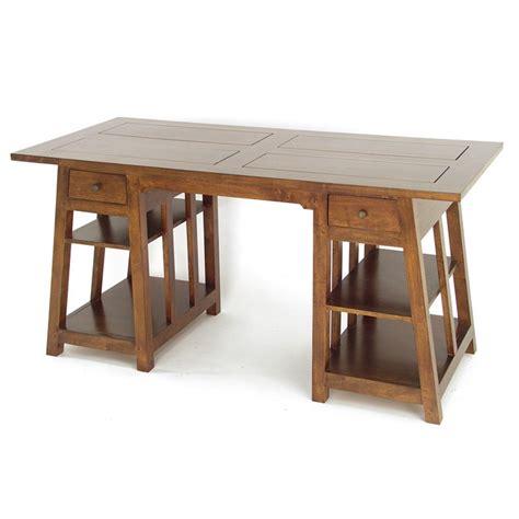 bureau treteau bureau en hévéa massif mobilier haut de gamme omega