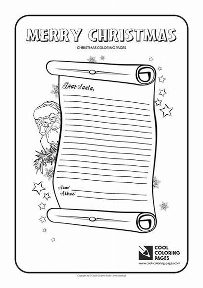 Coloring Santa Letter Claus Christmas Pages Cool