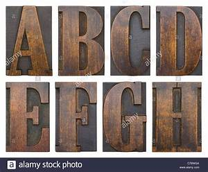 part of an alphabet series in antique printer39s woodblock With antique alphabet letters