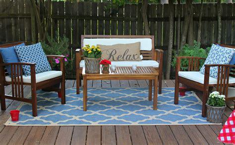 fresh blue deck furniture design ideas  relaxing