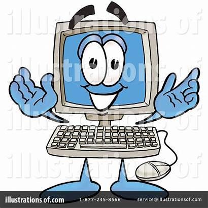 Computer Clipart Illustration Royalty Toons4biz Cartoon Rf