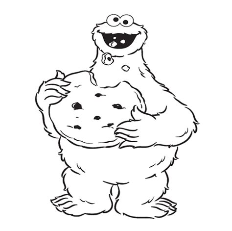Cookie Monster Coloring Page GetColoringPages com