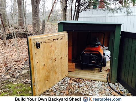 small generator shed plans portable propane generator enclosure plans icreatables