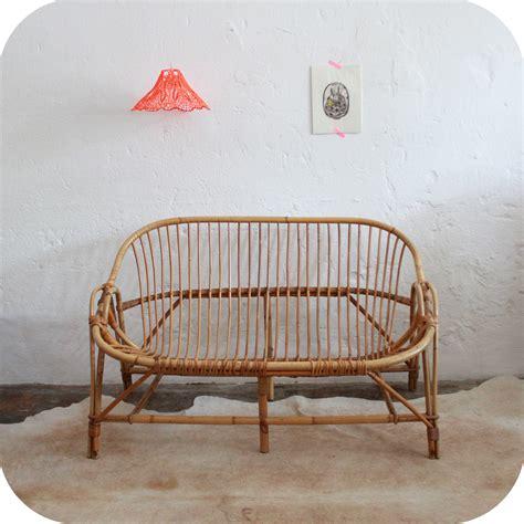 canape osier rotin mobilier vintage banquette canapé vintage rotin ées