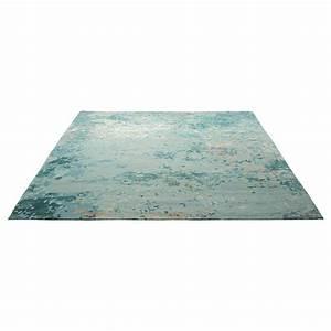 tapis esprit home bleu laine et soie alima 160x230 With tapis laine et soie