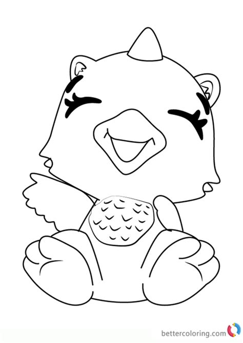 giggling draggle  hatchimals coloring pages