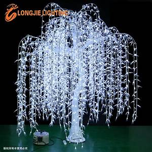 outdoor waterproofing artificial led weeping willow tree With outdoor light up willow tree