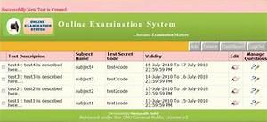 Online Examination System    Wiki    Home