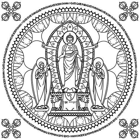 Spirituele Kleurplaten by Boeddha Kleurplaat Boeddha Mandala Kleurplaten