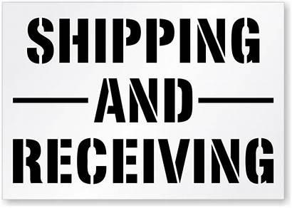 Receiving Shipping Stencil Sign Floor Signs Stencils