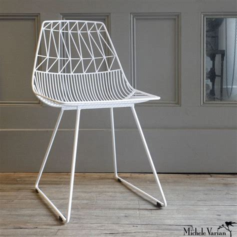 white wire chair