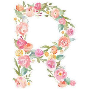 floral monogram letter  floral letters monogram wallpaper floral watercolor