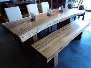 Table De Cuisine En Bois : table cuisine contemporaine bois ~ Teatrodelosmanantiales.com Idées de Décoration