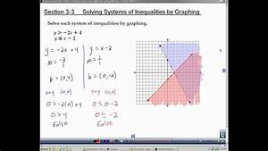 Algebra 2 Section 3 3 Solving Systems Of Inequalities By