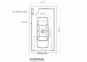 Dimension Garage 1 Voiture : average single car garage door house plans 31534 ~ Dailycaller-alerts.com Idées de Décoration