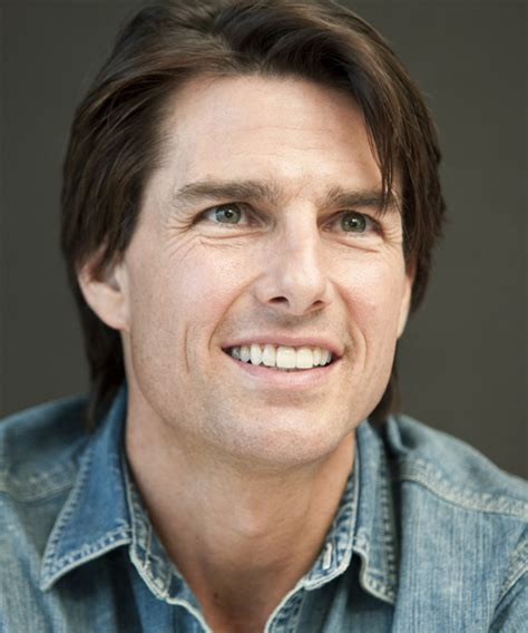 Tom Cruise Short Straight Casual Hairstyle (Chocolate)