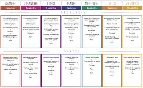 cuisine az menu de la semaine planifier les menus de la semaine pdf et printables