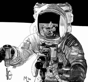 Astronaut On the Moon Drawing (page 3) - Pics about space