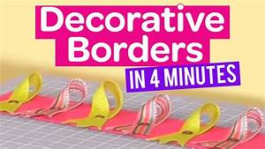 How to create decorative borders in 4 minutes - YouTube