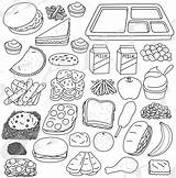 Cafeteria Clipart Lunch Tray Graphics Build Foods Meals sketch template