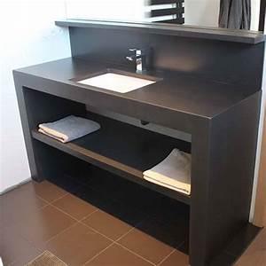 meubles de salle de bain beton cire atlantic bain With meuble effet beton cire