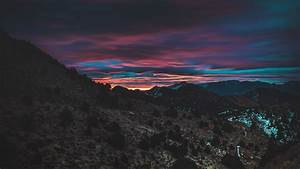 Download, Wallpaper, 3840x2160, Mountain, Sky, Sunset, Dark, Night, 4k, Uhd, 16, 9, Hd, Background