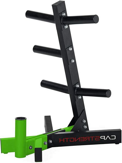 cap barbell olympic plate weight tree storage rack