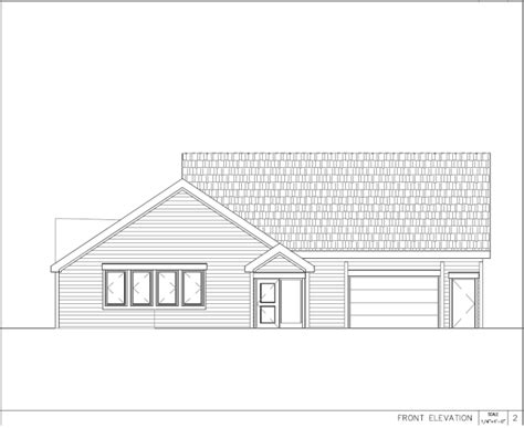 elevation drawing greater tuckerton food pantry