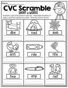 CVC Scramble! Unscramble the CVC words to make a word that ...