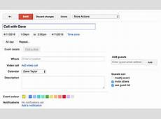 Invite someone to a meeting in Google Calendar? Ask Dave