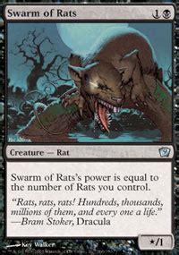 pack rat deck mtg pestilence rats age magic the gathering
