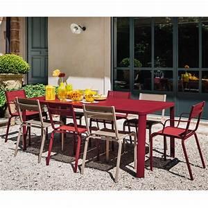table de jardin fermob oleron l205 l100 cm aluminium With fermob table de jardin