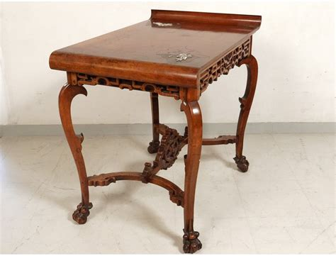 chaise bureau bois characters carved wooden office chair flowers nineteenth bird table antiques de laval