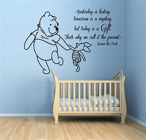 Winnie the pooh wall decals piglet quotes words