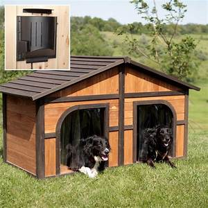 Dog house designs for two dogs for Two dog dog house