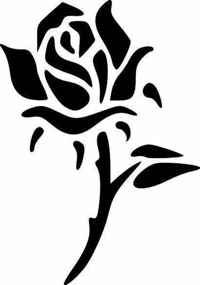 Rose Clip Svg Clipart Vector Domain Clker