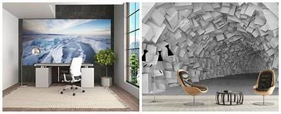 Office Modern Decor Wall Wallpapers Interior Special
