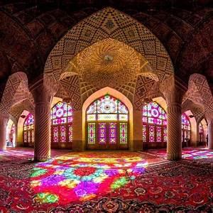 Psychedelic, Mosque, In, Shiraz, Iran